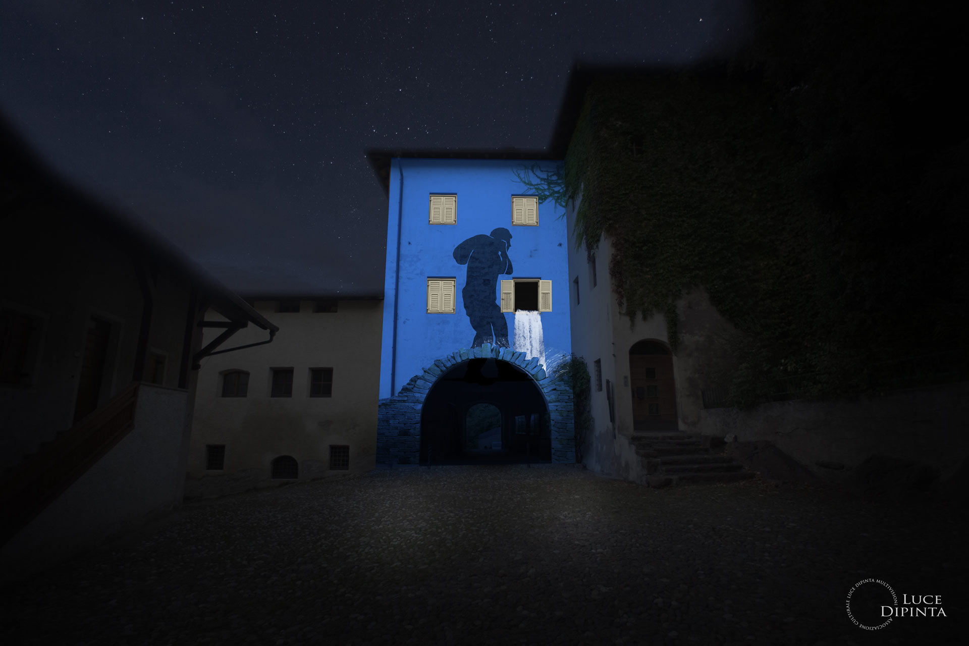 artist impression of the projection in Vadena