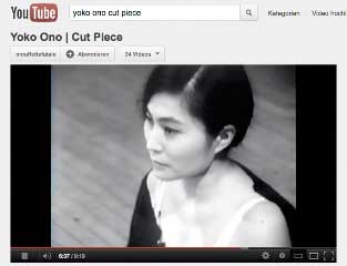 Yoko Ono Still from You Tube video
