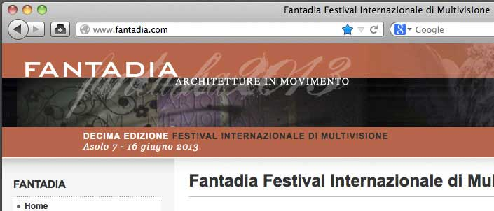 Screenshot of Fantadia website and domain name